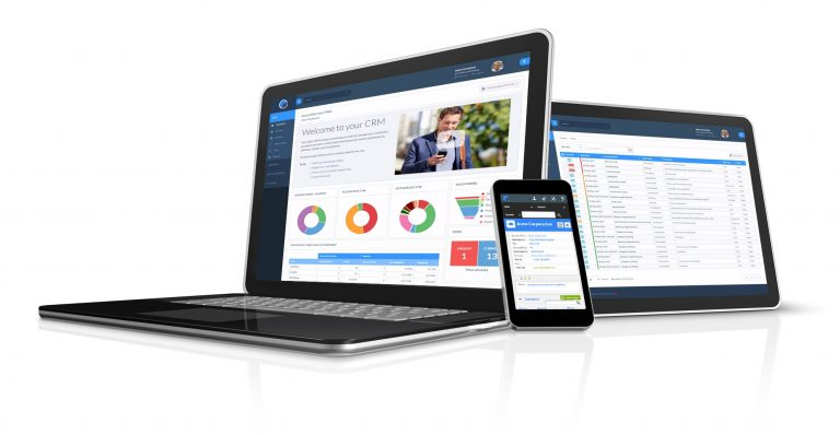 CRM available on different devices