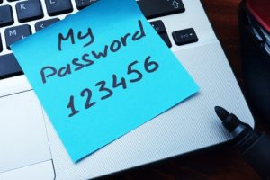 An example of a weak password