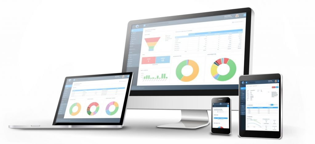 Really Simple Systems CRM version 5 on different devices